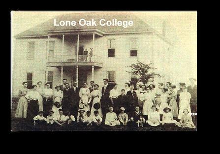Original church building and members