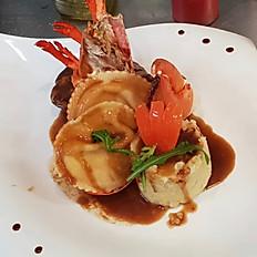 Filet Mignon de Boeuf et Ravioles de Homard