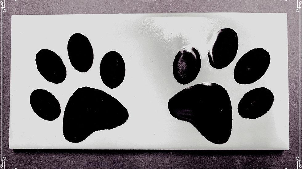 Dog Prints on Subway