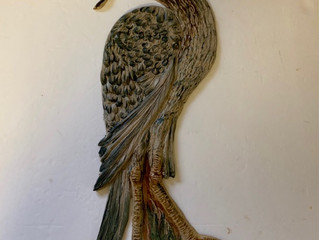 24 inch heron tile