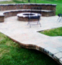 Landscape with Patio with firepit