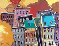 Basse ville à Québec - 8x10