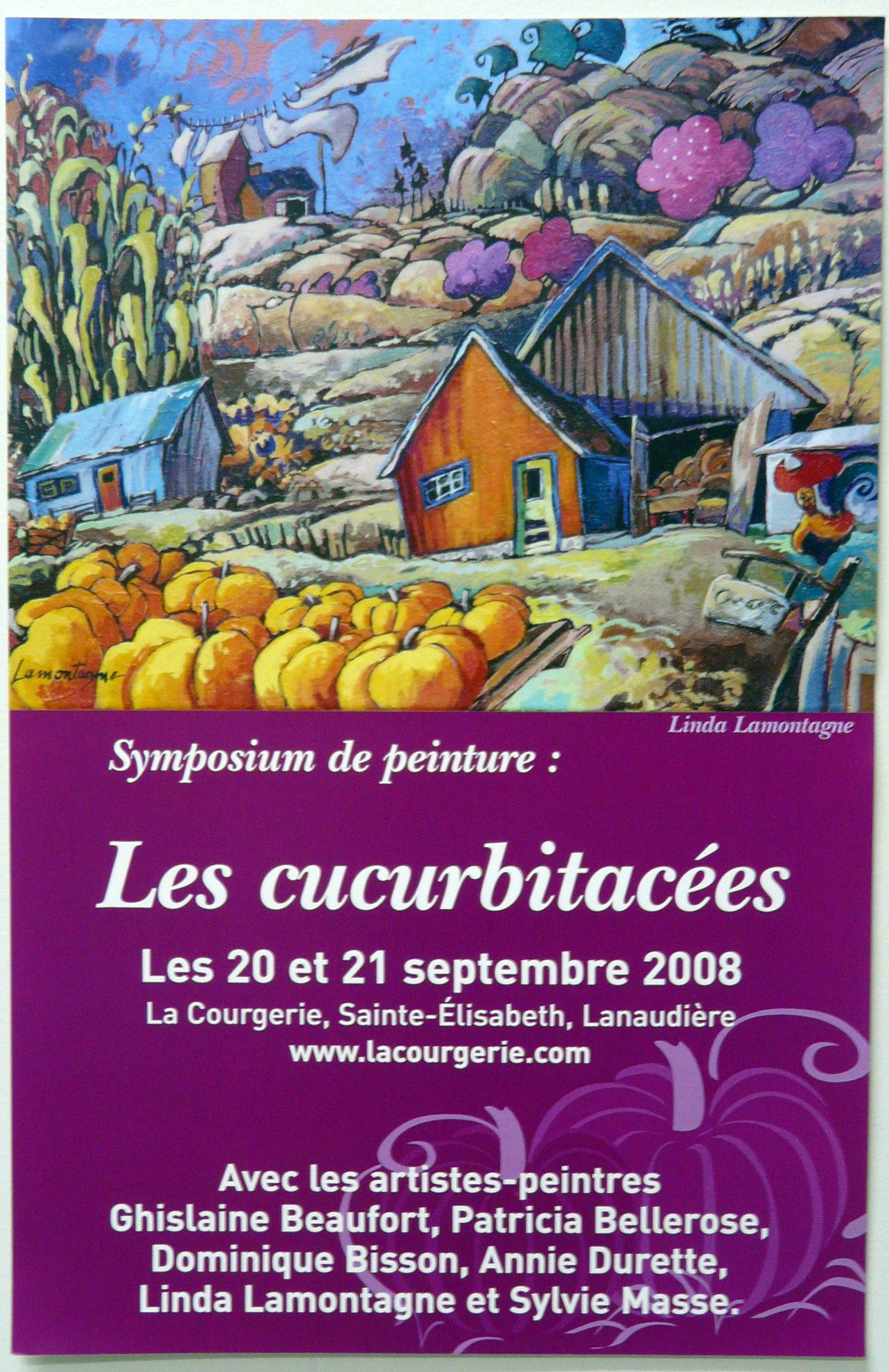 """Affiche promotionelle """"Les curcubitacées"""" 2008"""