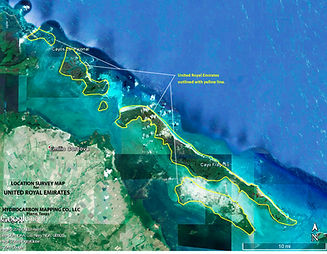 Ge aerial Cayo Fragoso outline noted cop