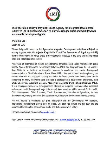 Letter to Royal Maya