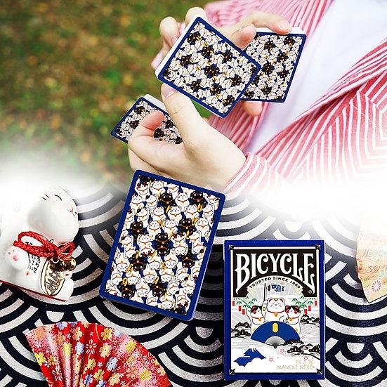 Bicycle - Maneki Neko Playing Cards - Blue