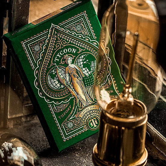 Tycoon Playing Cards Green
