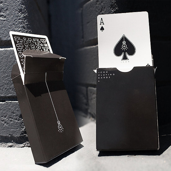 *Icon Playing Cards - Black