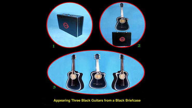 Appearing Guitars from Briefcase by Black Magic