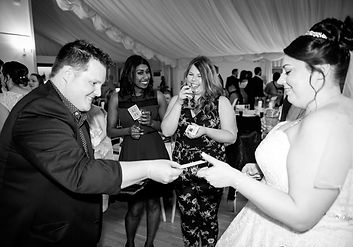 Ryan The Wedding Magician Performing for a bride
