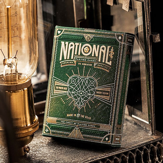*Green National Playing Cards
