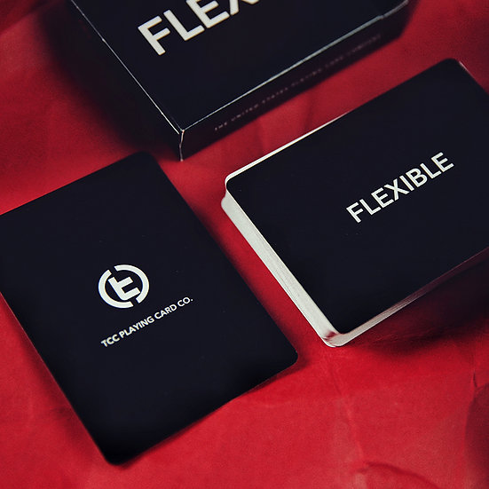 *Flexible Playing Cards - Black