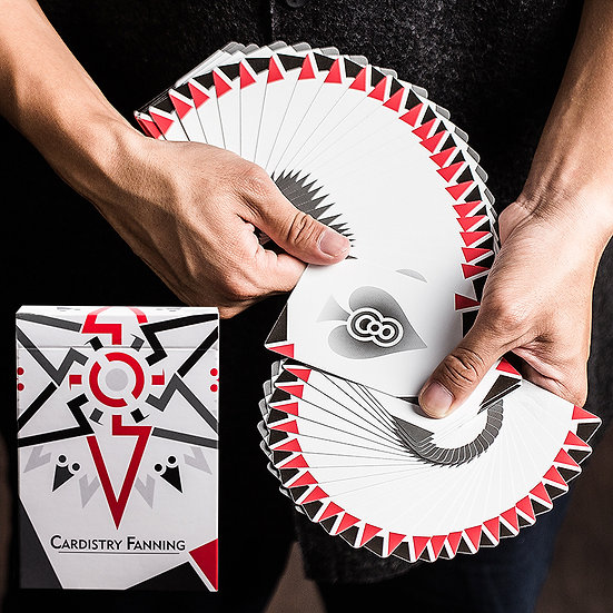 *Cardistry Fanning Playing Cards - White Edition