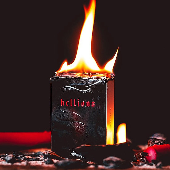 *Red Hellions Playing Cards - Black Tuck