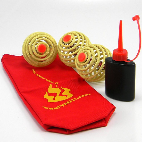 *3 x Fyrefli Fire Juggling Balls & Carry Bag