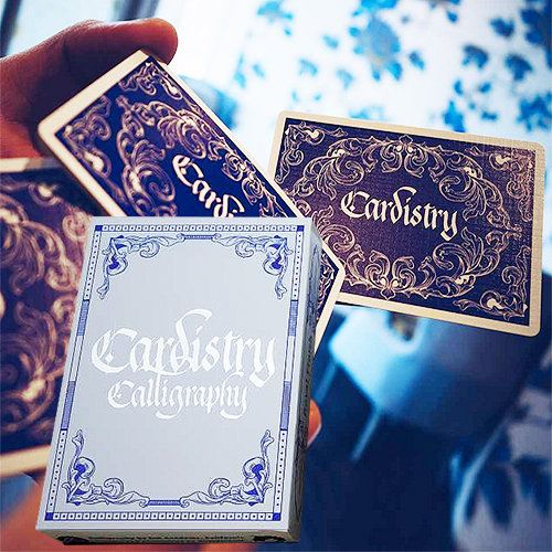 *Cardistry Calligraphy - Blue
