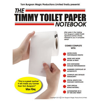 Timmy Toilet Paper Notebook (DVD & Notebook) by Tom Burgoon