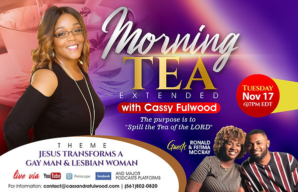 Morning Tea Extended: Spilling the Tea of the LORD