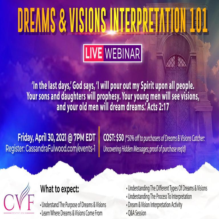 Dreams & Visions Interpretation 101