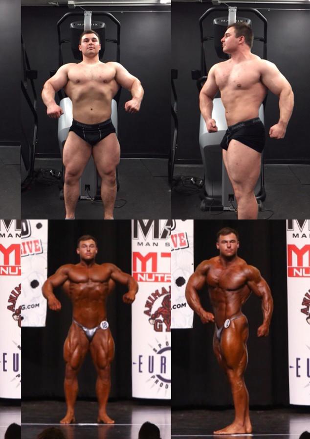bodybuilder on stage