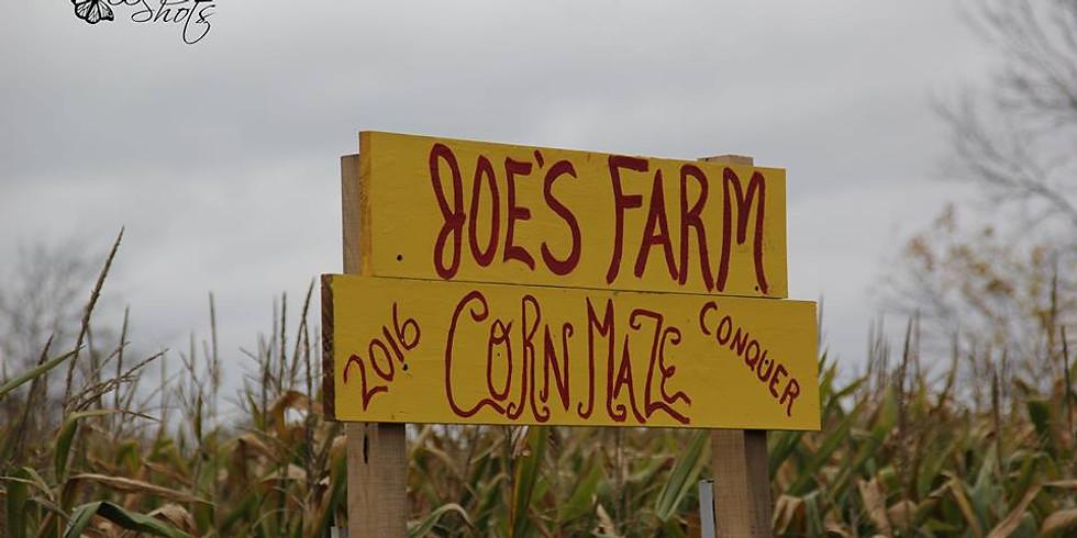 Joe's Farm Cornmaze October 27th