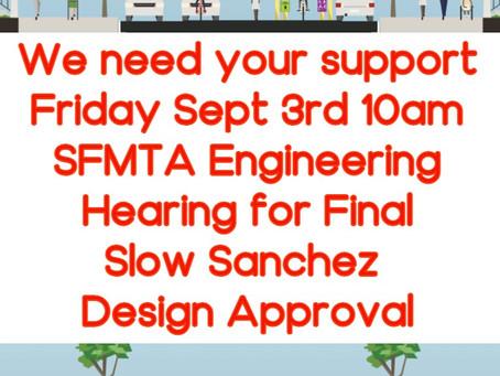 Help us get the final design for Slow Sanchez approved