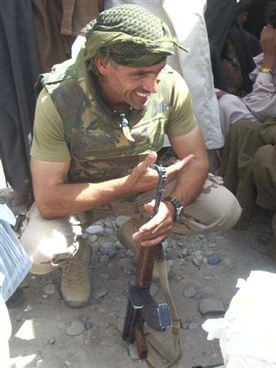 Nikko Norte in Uruzgan, Afghanistan voor de Taskforce missie van het Nederlandse leger.