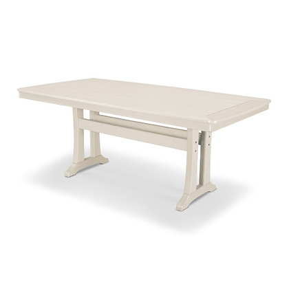 "Quick Ship POLYWOOD® Nautical Trestle 38""x73"" Dining Table PL83-T2L1"