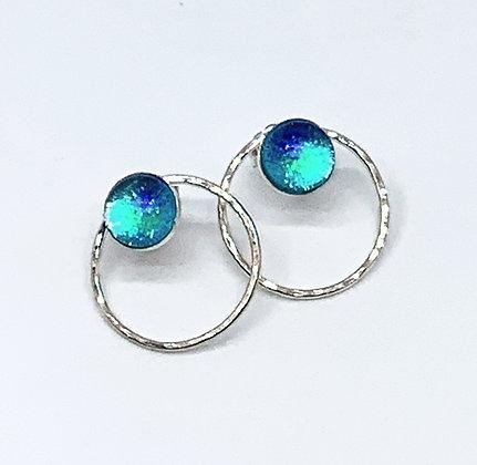Kate Post Earrings in Caribbean Opal