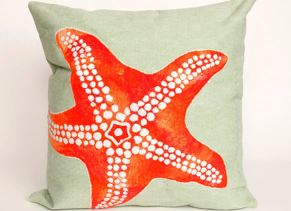 """Visions II Starfish Indoor/Outdoor Pillow 20""""Square"""
