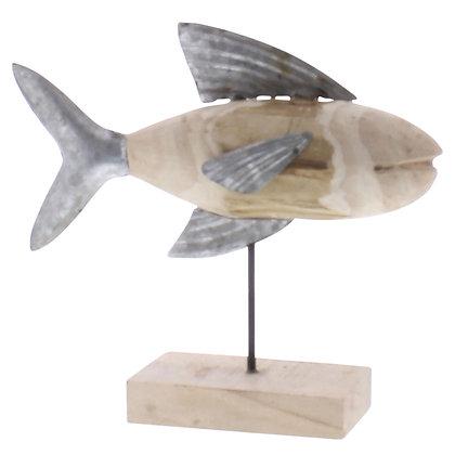 FISH ASSEMBLAGE, WOOD & METAL - LRG