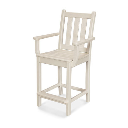 POLYWOOD® Traditional Garden Counter Arm Chair TGD201