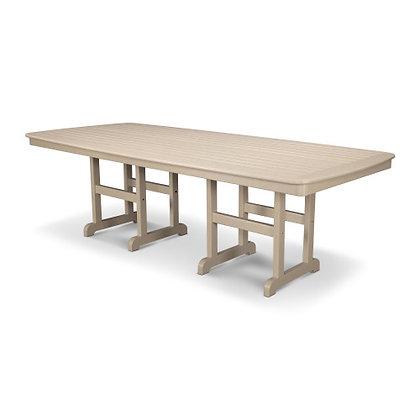 "POLYWOOD® Nautical 44""x96"" Dining Table NCT4496"