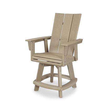 In Stock POLYWOOD®  Modern Adirondack Swivel Counter Chair ADDSV621(NO SHIP)