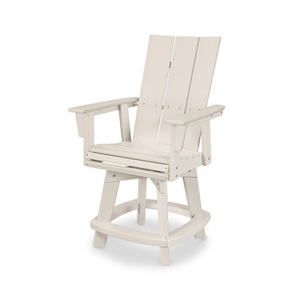 POLYWOOD®  Modern Adirondack Swivel Counter Chair ADDSV621