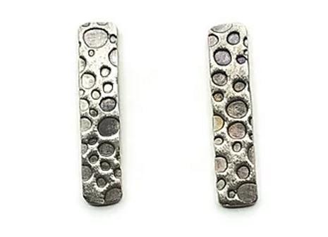 Rectangle Bubble Print Stud Earrings