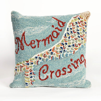 "Frontporch Mermaid Indoor/Outdoor Pillow 18""Square"