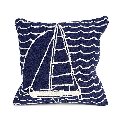 """Frontporch Sails Indoor/Outdoor Pillow 18""""Square"""