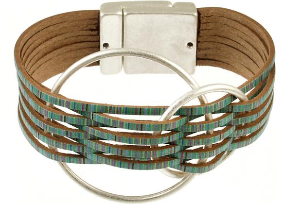 Multi Strand Double Circle Magnetic Bracelet
