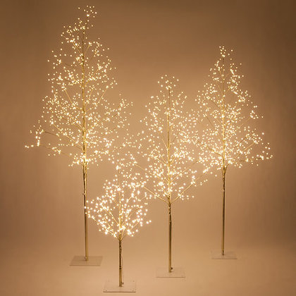 Gold Fairy Light Tree, Warm White LED