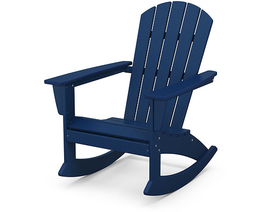 In Stock POLYWOOD® Nautical Adirondack Rocker ADR410 (SHIPPING UNAVAILABLE)