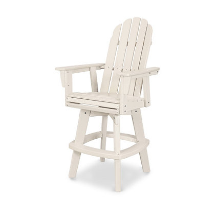 POLYWOOD® Vineyard Adirondack Swivel Bar Chair ADDSV602