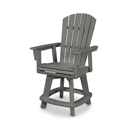 In Stock POLYWOOD® Nautical Adirondack Swivel Counter Chair ADDSV611