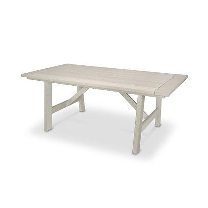 "POLYWOOD® Rustic Farmhouse 39""x75"" Dining Table PL83-T3L2"