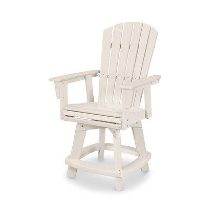 POLYWOOD® Nautical Adirondack Swivel Counter Chair ADDSV611