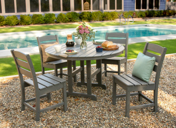 POLYWOOD® Lakeside 5-Piece Side Chair Dining Set PWS517-1