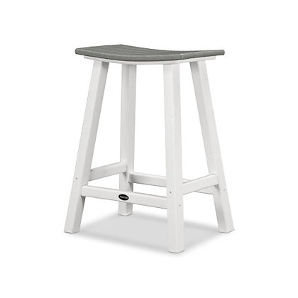 "In StockPOLYWOOD® Contempo 24"" Saddle Counter Bar Stool 2011SHIPPING UNAVAILABLE"