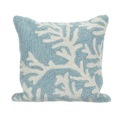 "Frontporch Coral Indoor/Outdoor Pillow 18""Square"