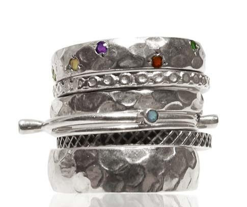 Lucky 7 Israeli Stacked Bands (Mixed Stones)