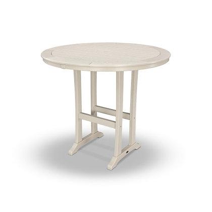 "POLYWOOD® Nautical Trestle 48"" Round Bar Table RBT448-L1"